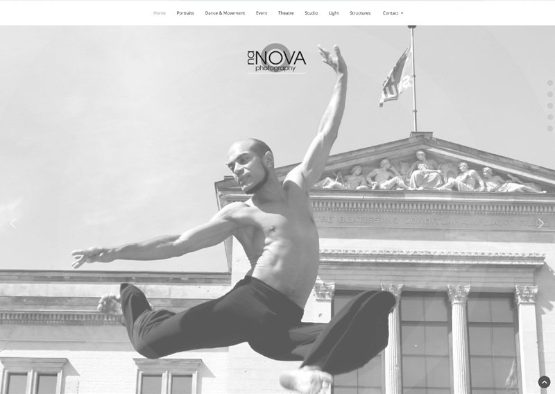 Website Nanova Photography, 2018